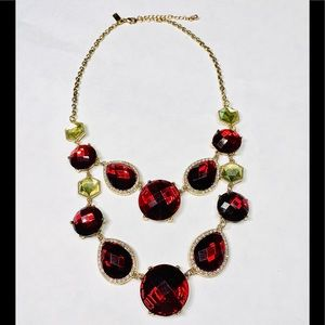 INC Crystal and Stone Statement Necklace